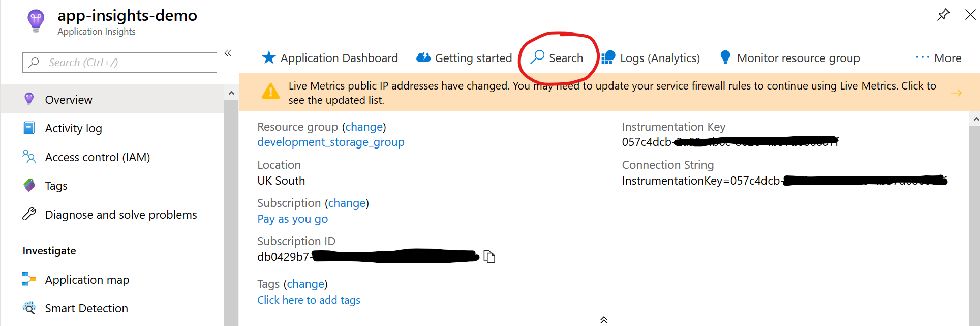 app-insights-search-button