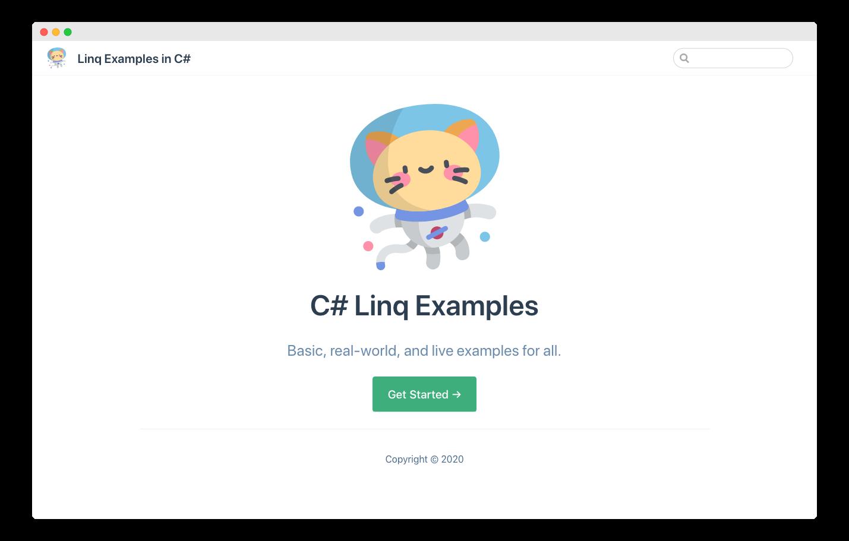 linq example app screenshot